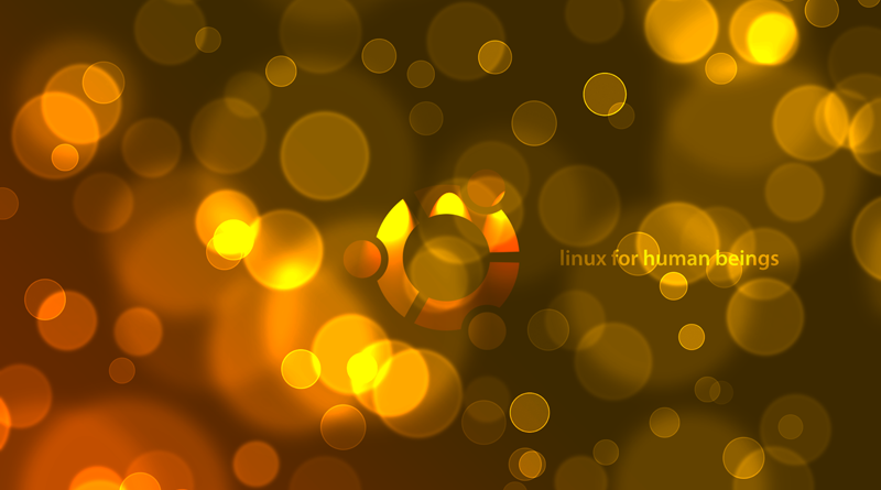 Ubuntu Wallpaper with a bokeh effect