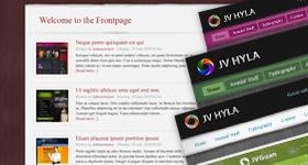 JV Hyla - blog joomla template