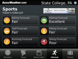 ACCU WEATHER for BlackBerry by AccuWeather International