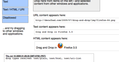 HTML5 Drag and Drop in deeetail