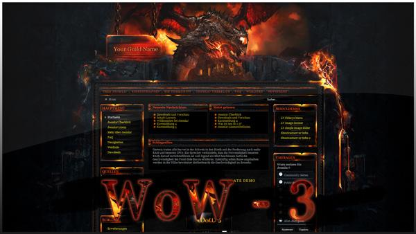 World of warcraft 3 - joomla template
