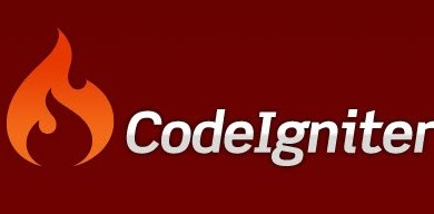 codeigniter logo on red background