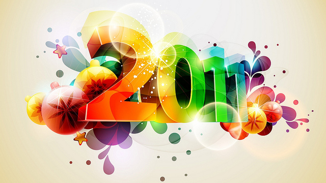 happy 2011 wallpaper shiny