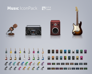 Music icon set by eMex