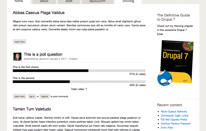 Screenshot of the Sky theme for Drupal 7