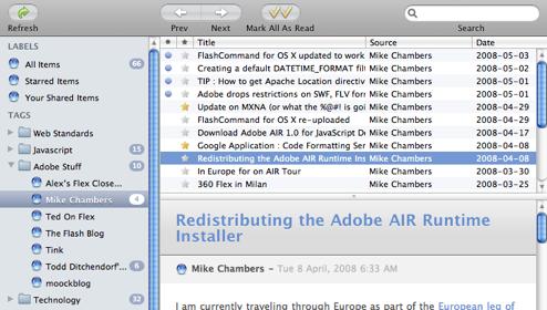 ReadAir - A desktop client for Google Reader