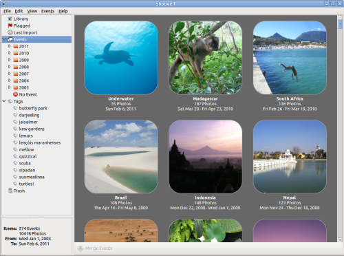 Shotwell 0.8.1 Open source photo manager for GNOME