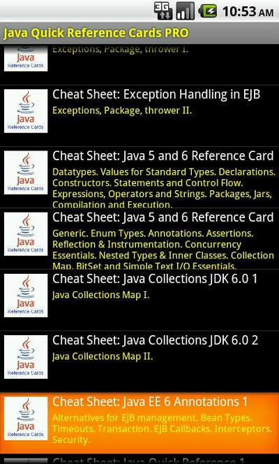Java Reference Cards