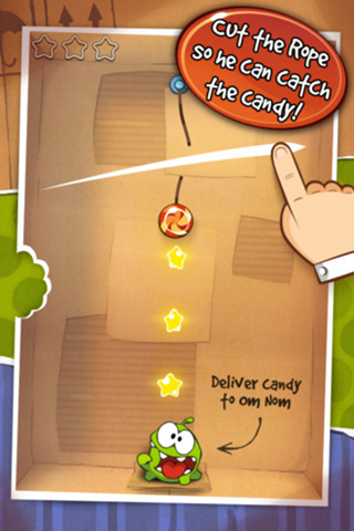 cut the rope mobile application