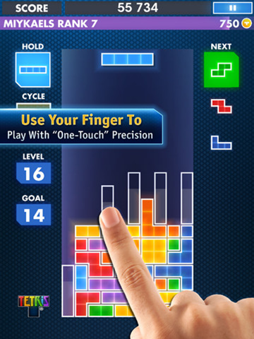 Tetris mobile application