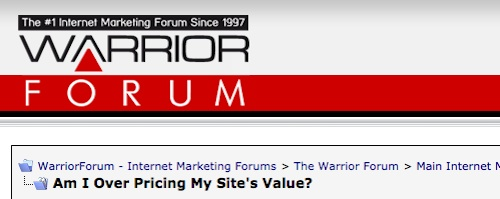 real value of web site or project