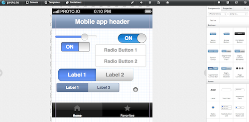 example editor screen proto.io