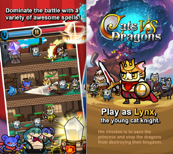 Cats vs Dragons Android smartphone game