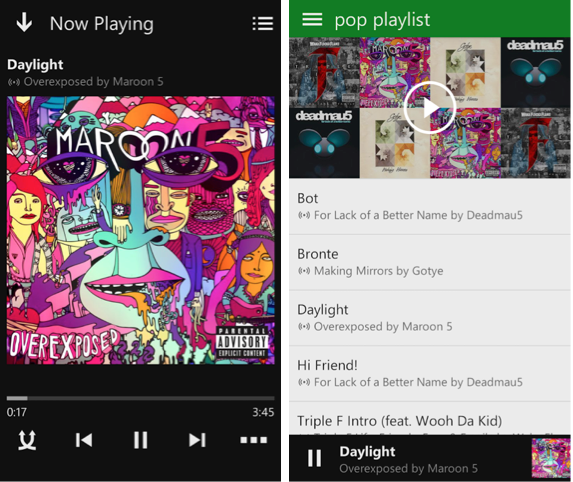 XBox Music for Android