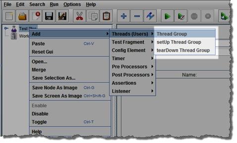 Jmeter add thread group