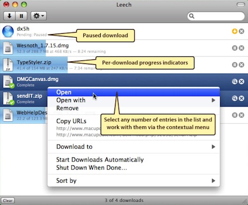 Leech download manager for mac