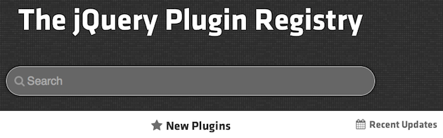 official jquery plugin repositary on enfew