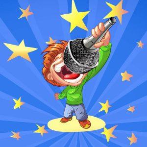 I Am A Super Star Singer Stickers