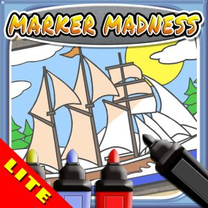 Marker Mania for Boys, Toddlers and Kids - My Boat and Ship Finger Paint Coloring Book Game! (FREE iPhone & iPad)