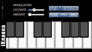 iM: iKlavka, classic monophonic (two voice) sound synthesizer with
